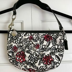 Coach Kyra Graffiti Nylon ZipTop Mini Shoulder Bag